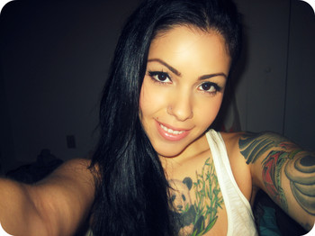 tattooed amateur babe