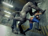 Minotaur hunter found hot babe prey and analyzed her