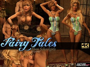Fairy Tales - Elven Schoolgirls - Chapter 1 art by GATOR3D Comic