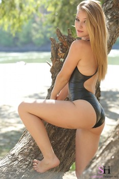 Haley in the summer wood
