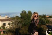 Saskia Valentine Shooting in Black Bodysuit Outdoors x163 3000px