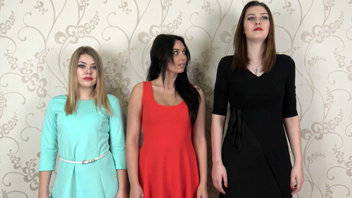 Anna, Alina & Barbara - triple stockings trampling Full HD