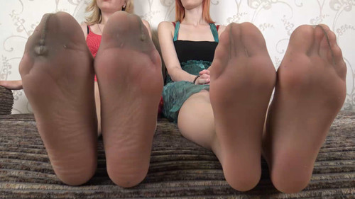 Kate & Eva - huge size 12 soles in nylon Full HD
