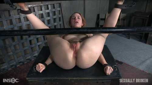 Amarna Miller - Amarna Miller is bound on her back and fucked from both ends, brutal face fucking...