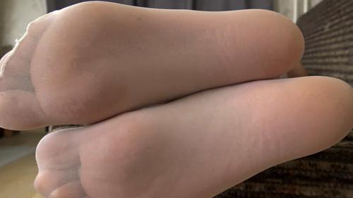 Emily - white stockings teasing Full HD