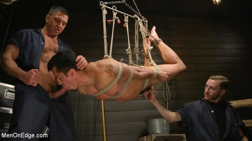 MenOnEdge - ...But Your Dick Says Yes: Tony Prower Edged In Full Suspension